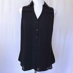 Express Black Sleeveless Portofino Top